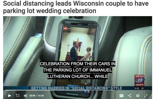 Social disatncing wedding